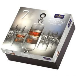 Bohemia Royal Crystal Whisky set 7 ks TRIO